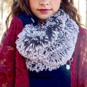 Altar'd State Two Tone Faux Fur Infinity Scarf